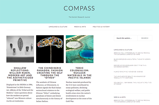 "Link to student-run publication ""Compass"""