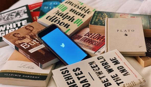 """Ex Libris, Twitter"" by Jenzia Burgos"