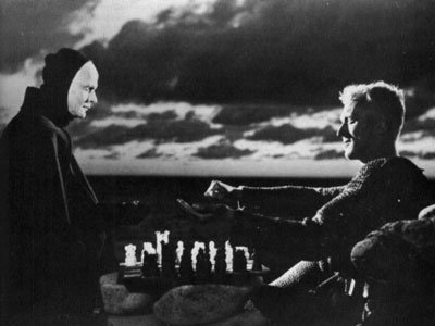 """A match of chess against death from Ingmar Bergman's 1957 film """"The Seventh Seal."""""""