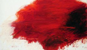 "Detail from Cy Twombly's ""Fifty Days at Iliam: The Fire that Consumes All before It"""