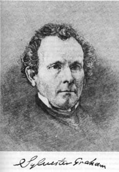 Portrait of Sylvester Graham.