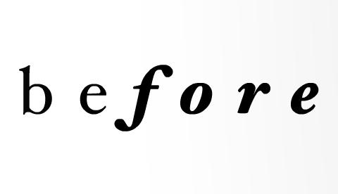 Before logo