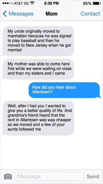 Photo of Text Messages with Mom